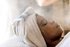 face steaming at the spa