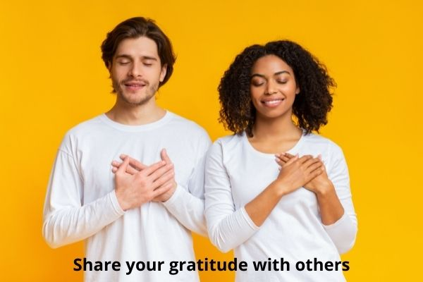 Share your gratitude with others